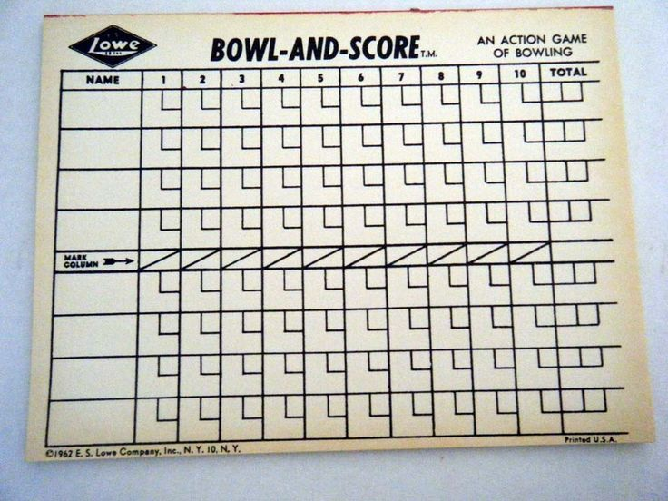 Image result for vintage bowling score sheets gift ideas Bowling