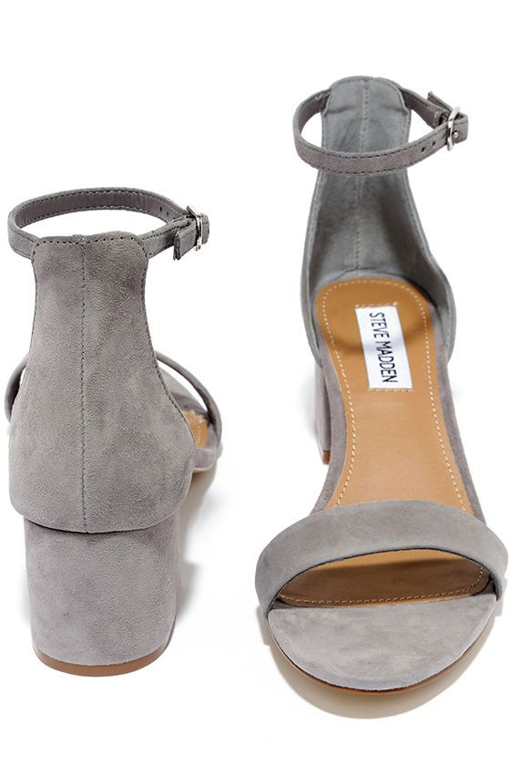 Make your next destination easy street in the easy-walking Steve Madden  Irenee Grey Suede