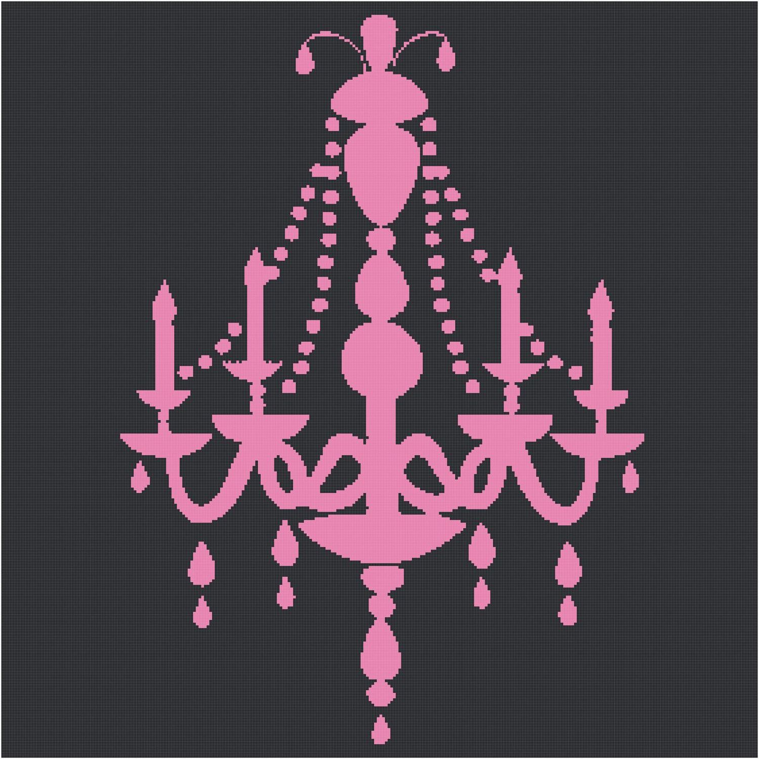 Chandelier Silhouette Cross Stitch Pattern Events