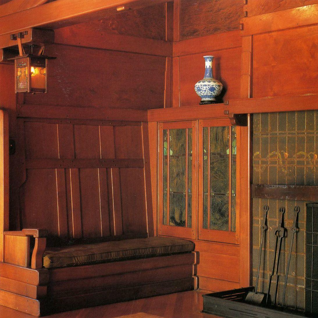 Gamble house greene and greene pasadena ca 1908 for Greene and greene inspired furniture