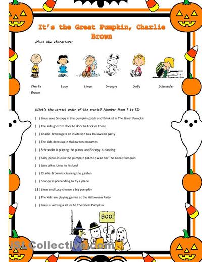 It S The Great Pumpkin Charlie Brown Movie Worksheet Charlie Brown Halloween It S The Great Pumpkin Charlie Brown Halloween Party