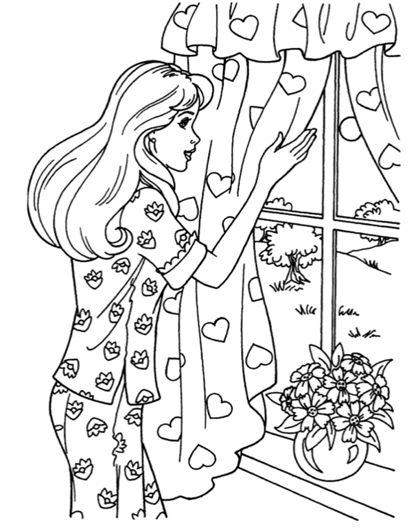 Pin by Tsvetelina on Barbie coloring | Free kids coloring ...