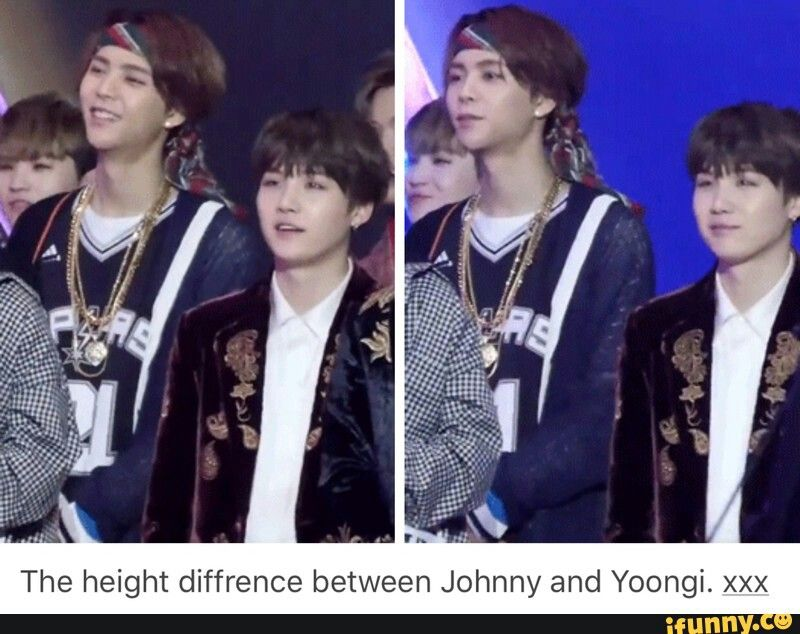Johnny And Yoongi S Height Difference Bts Funny Bts Face Kpop Memes