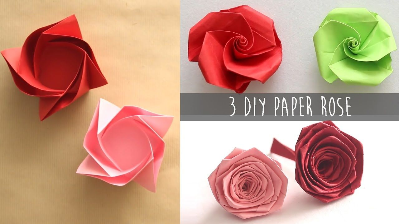 3 easy diy paper rose create pinterest 3 easy diy paper rose mightylinksfo
