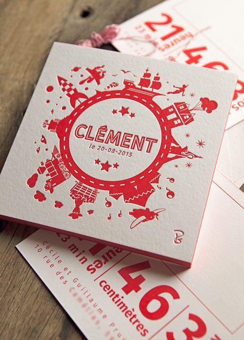 Faire Part De Naissance Pantone Red 032 Recto Verso Letterpress Birth Plus Decouvertes Sur Le Blog Des Tendancesfr Tendance Packaging Blogueur