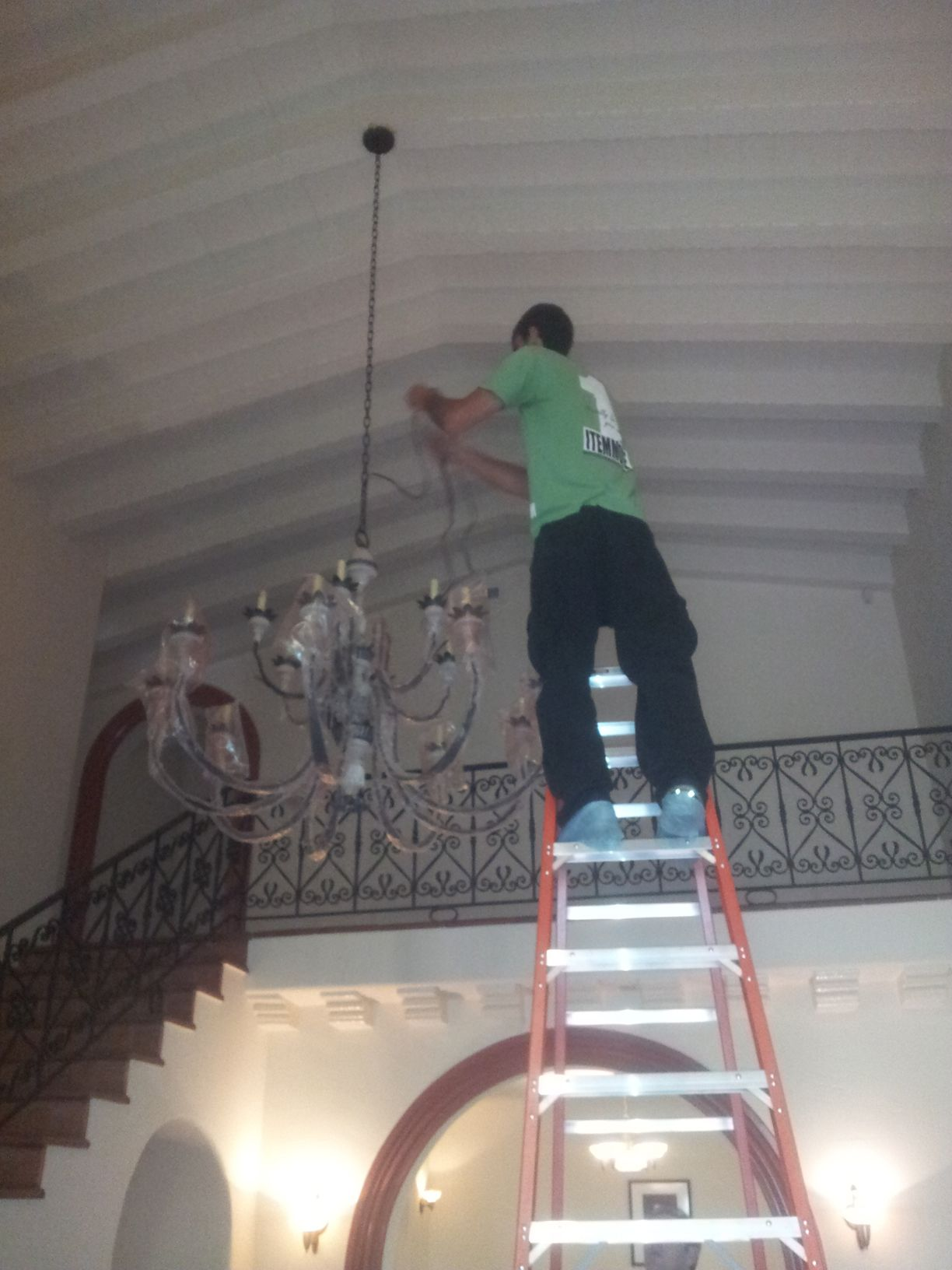 Licious How To Hang A Chandelier With No Electrical Box