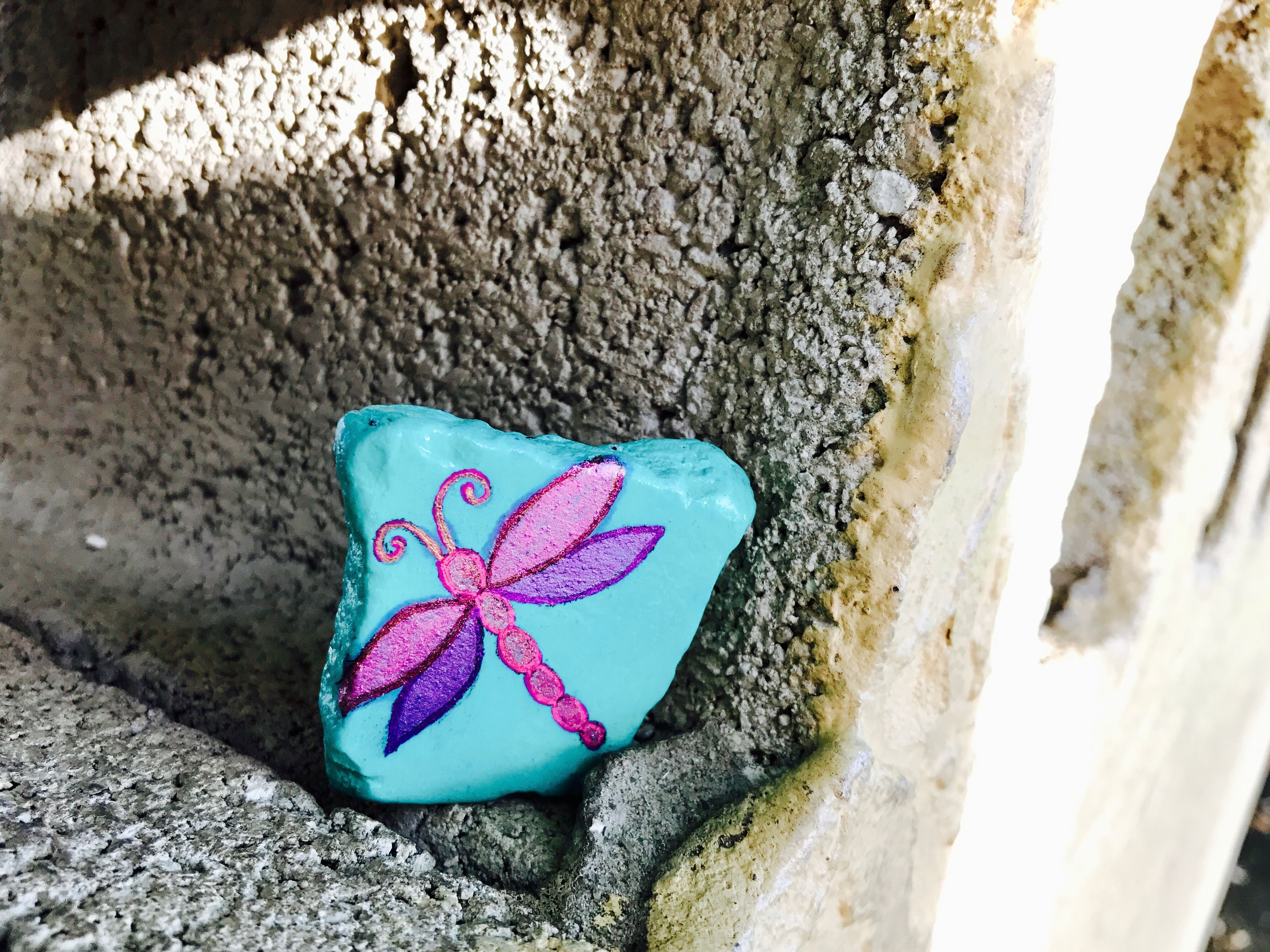 Dragonfly Painted Rock Dragonfly Painting Rock Crafts Painted Rocks