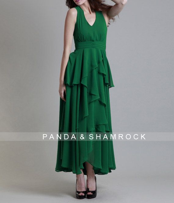 dance and walk/women dress/ chiffon dress/ by pandaandshamrock, $95.00