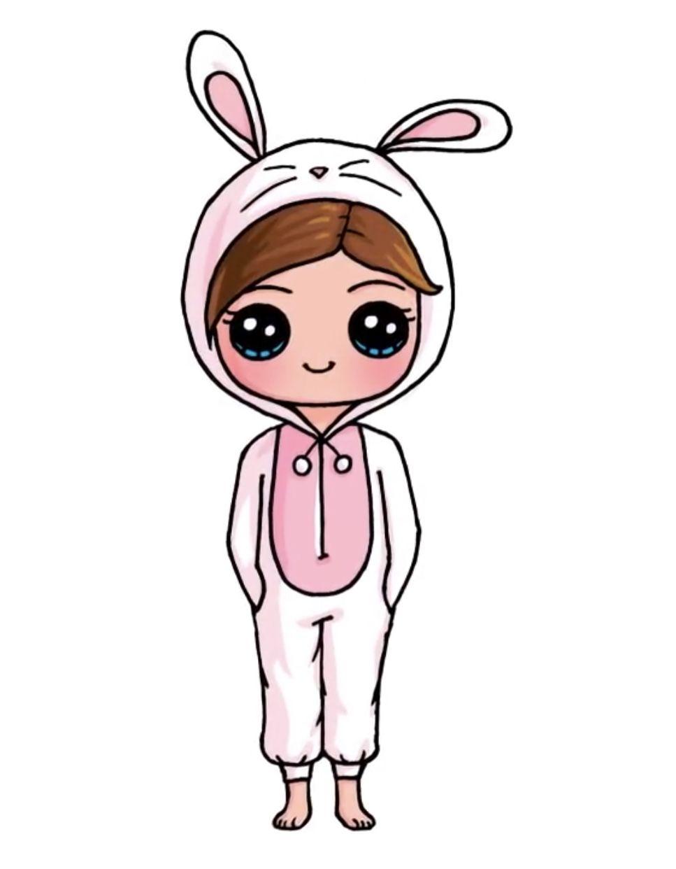 Bunny Onesie Em 2020 Kawaii Desenhos Fofos Desenhos