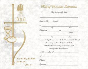 Rcia certificate religious education pinterest certificate this rite of christian initiation certificate is meant to be given to the rcia candidate upon reception into the catholic church the certifica yelopaper Images