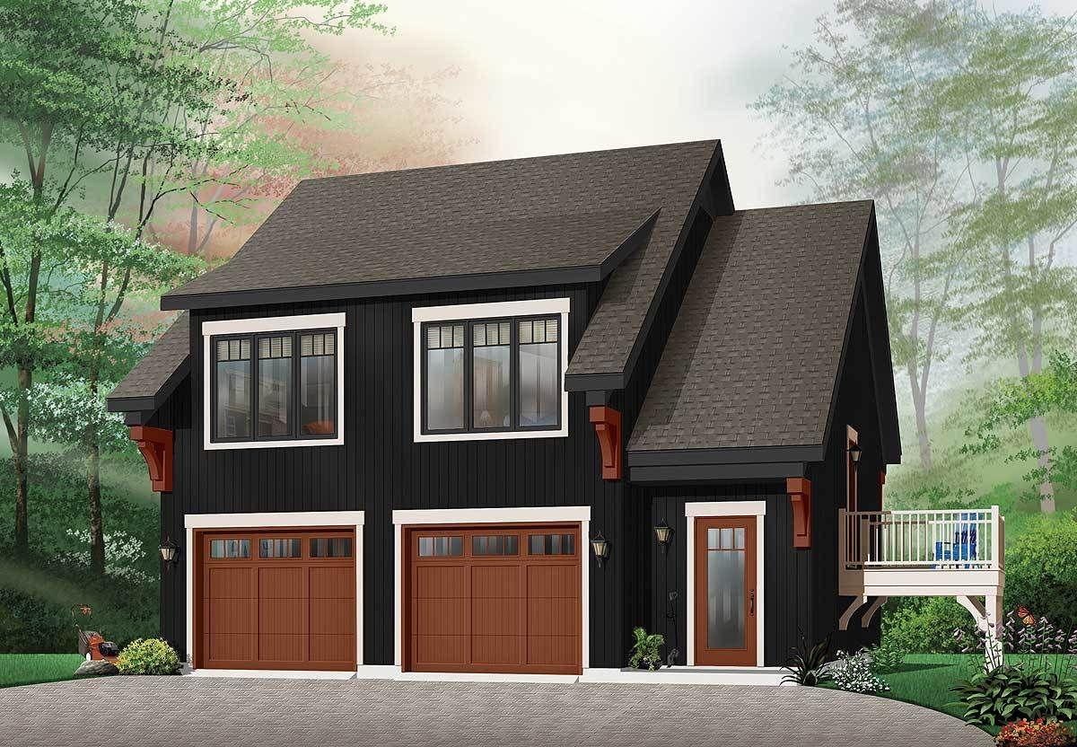 Plan 21207dr Comfortable Garage Apartment Planos De Casas