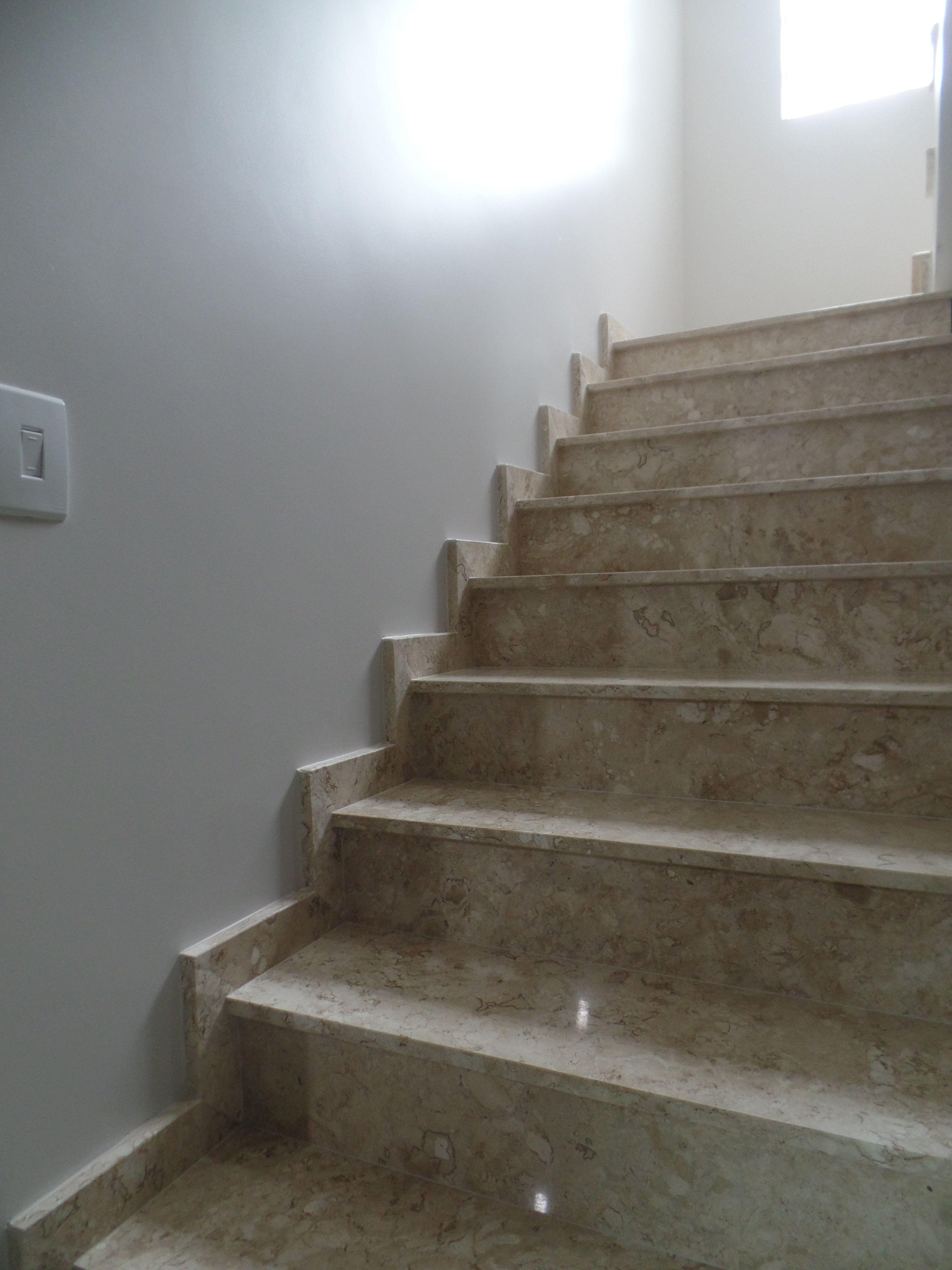 Escada Em Travertino Escada Granito Pinterest