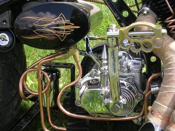 Chopcult Copper Oil Lines I Think Bobber Bikes Bike Custom Paint Biker Art