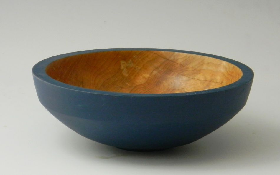 Maple Bowl w/ Blue Milk Paint