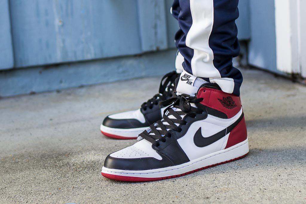 Air Jordan 1 Retro Og High Black Toe On Feet Sneaker Review Air