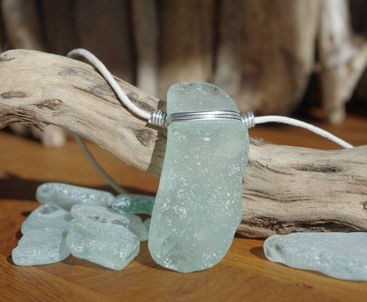 Schmuckanhänger aus Strand-Glas von Driftwood & Stones auf DaWanda.com