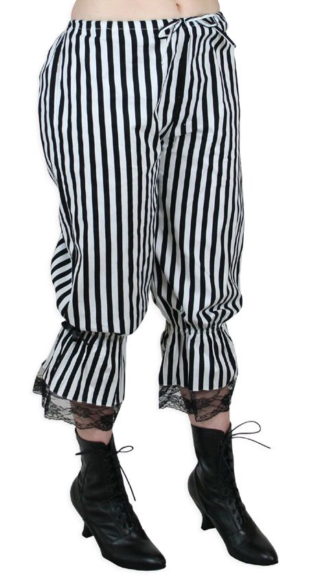 $49.95 Size L. Victorian Striped Bloomers
