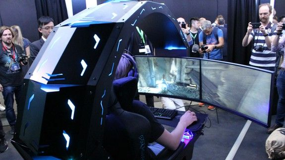 Admirable Acers Predator Thronos Gaming Chair Is Insane And I Want It Bralicious Painted Fabric Chair Ideas Braliciousco
