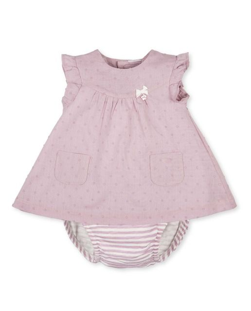 5616689e3 Vestido de bebé niña Tutto Piccolo algodón con estampado