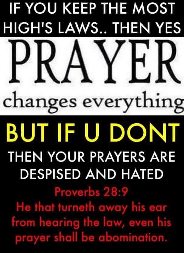 God does not hear the prayer of a sinner