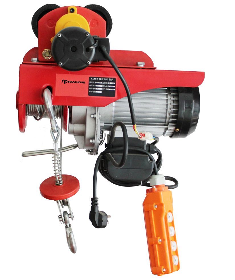 medium resolution of we also can send the sample of mini electric wire rope hoists to our customers