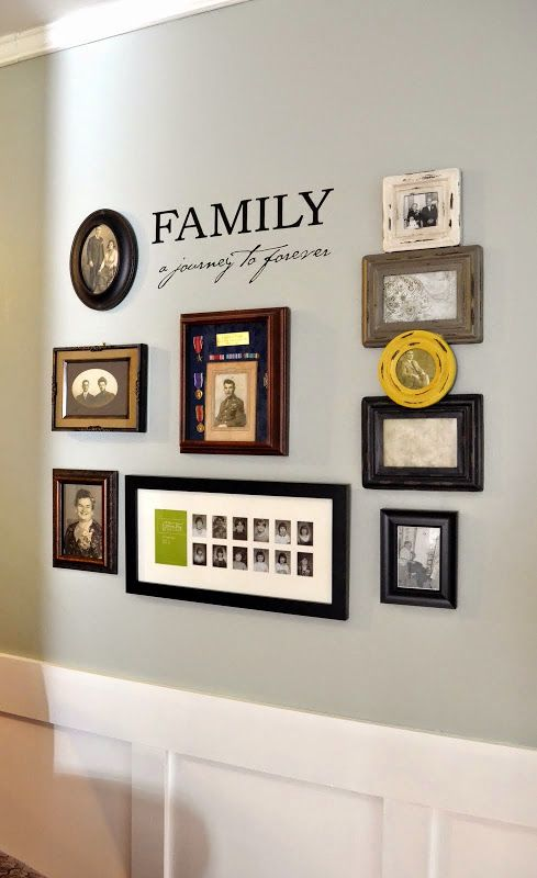 More updates to Mom & Dad's dining room... new artwork and a family tree gallery wall