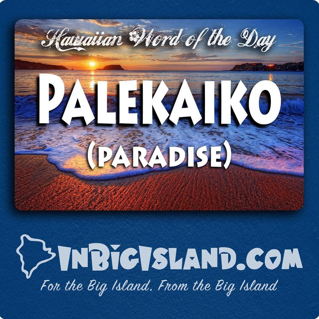 Today S Hawaiian Word Of The Day Is Palekaiko Paradise Just Living In Get Thiore At Inisland