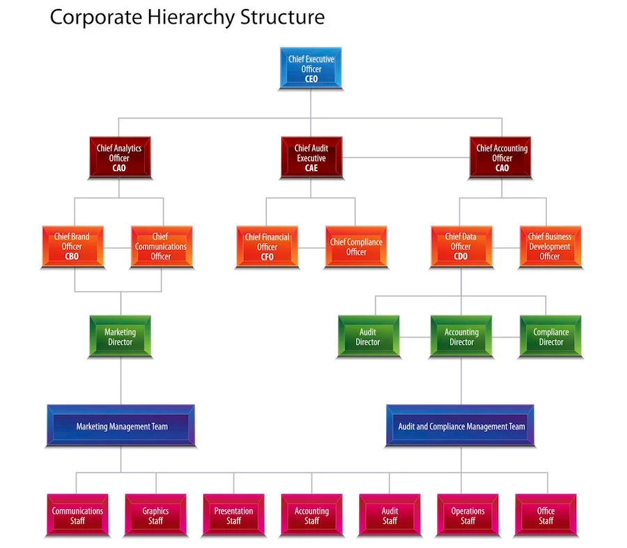 How To Make A Business Organizational Chart In 4 Simple Steps Organizational Chart Org Chart Hierarchy