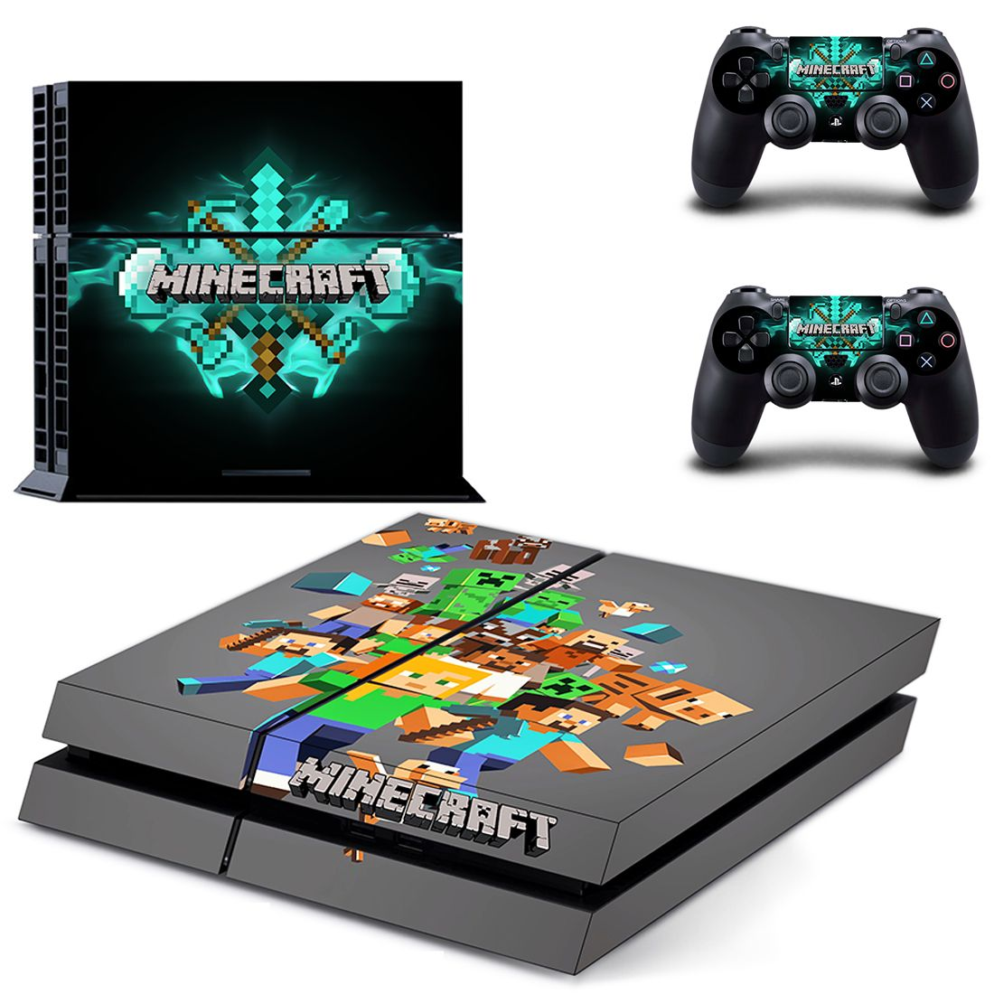 Minecraft Ps4 Slim Skin Sticker Decals Video Games