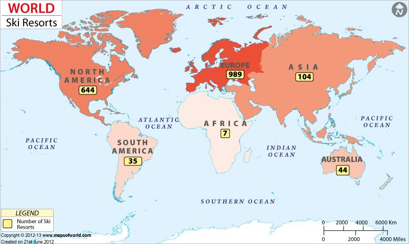 World Ski Resorts  Travel Maps  Pinterest  Resorts Travel maps