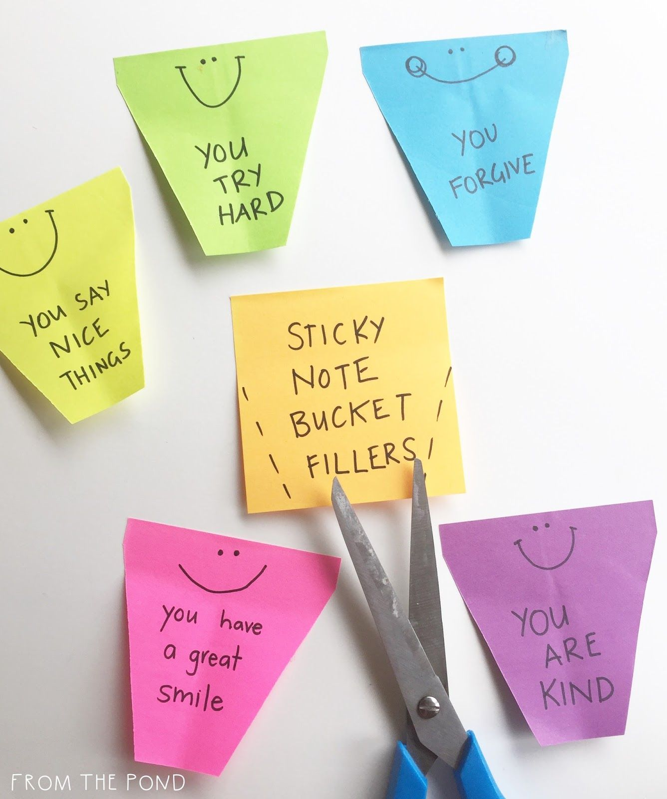 Use Sticky Notes To Create Bucket Filling Statements Bucket