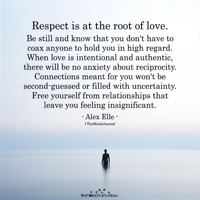 Respect Is At The Root Of Love