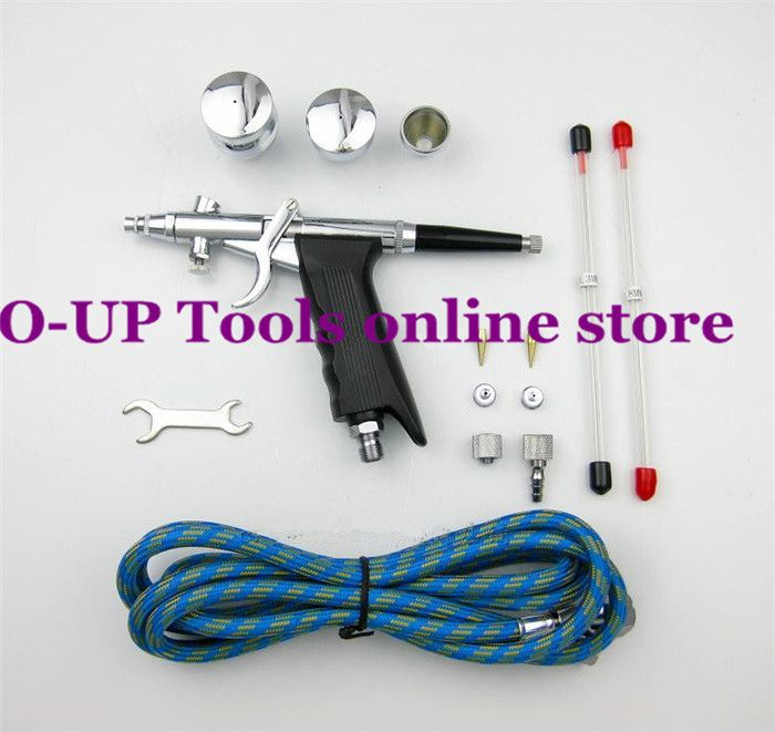 dual action airbrush air brush kit with airbrush hose and spray gun ...