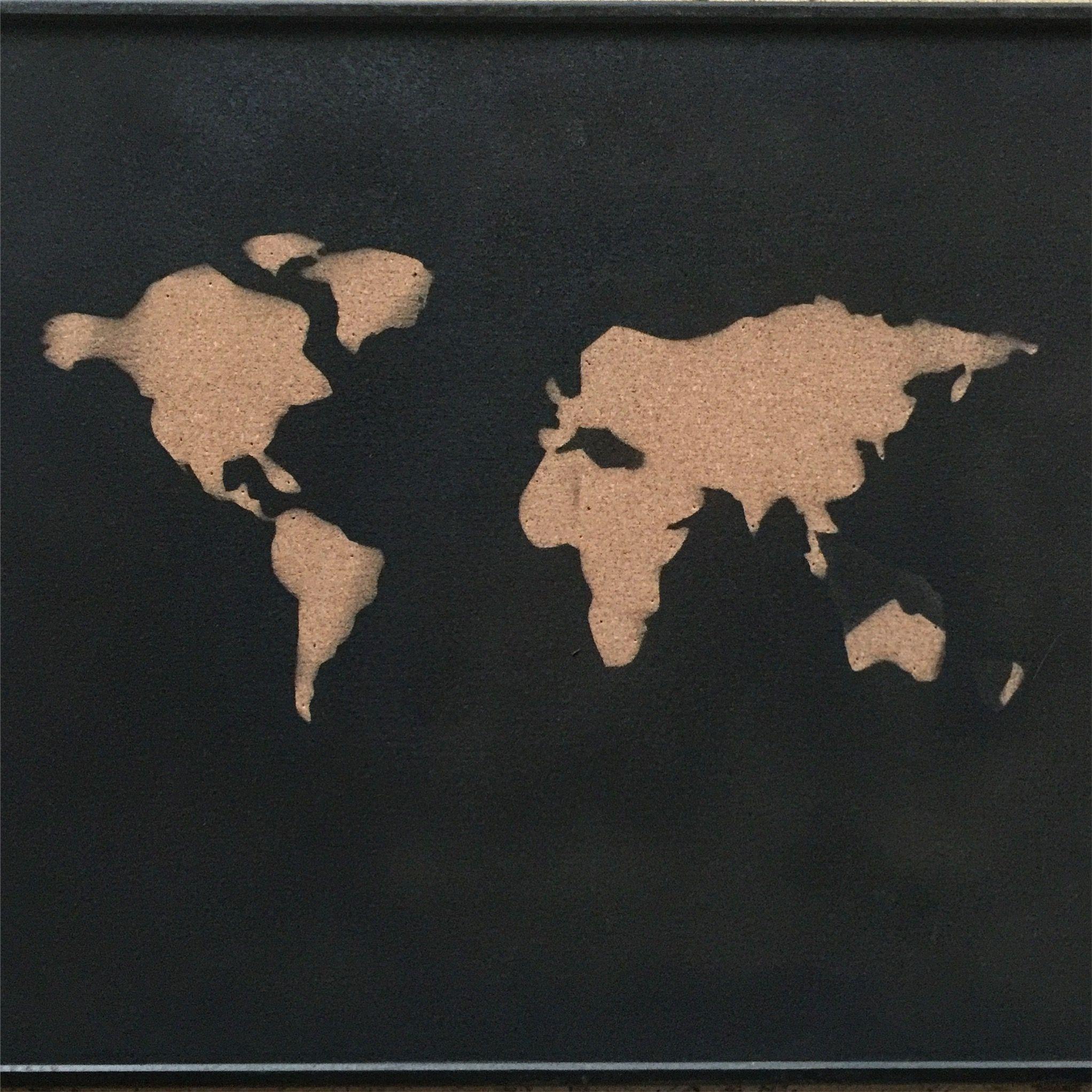 World map •  Selfmade Pin Wall  💯%