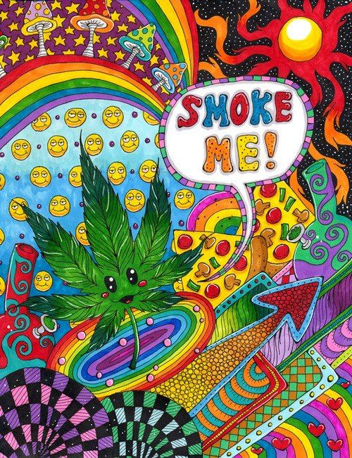 Stoner wallpapers tumblr recherche google trippy - Trippy weed backgrounds ...
