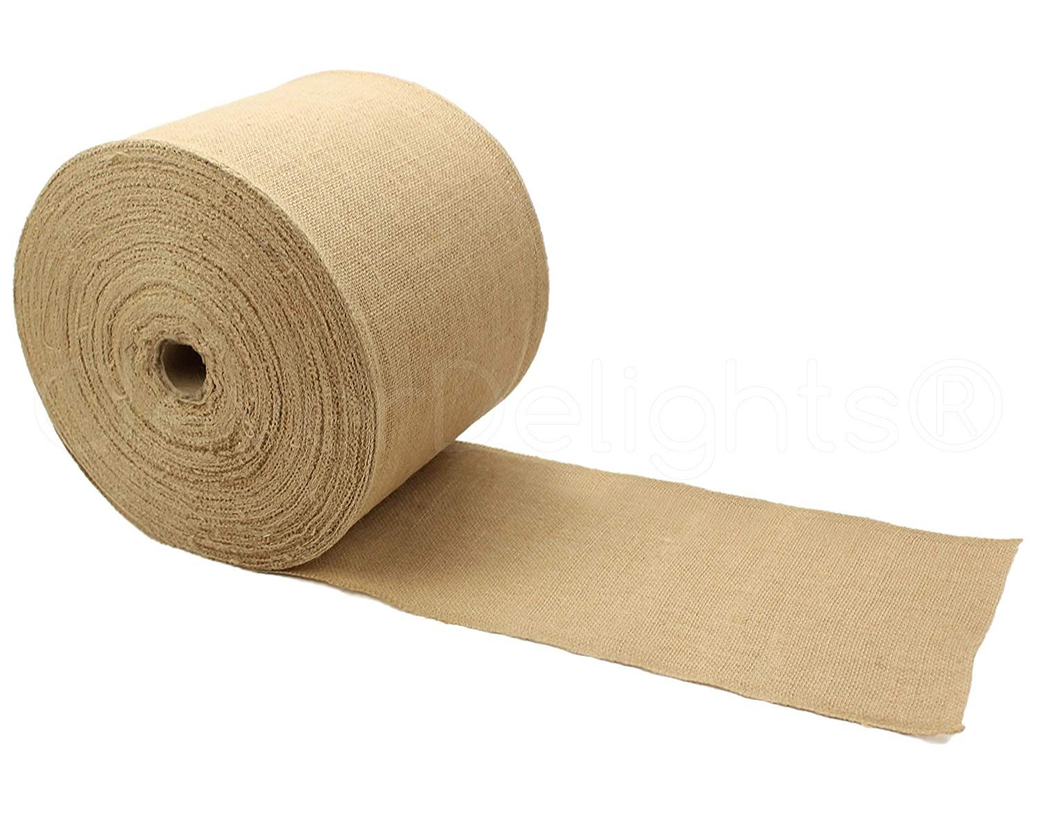 Cleverdelights 6 Premium Burlap Roll 100 Yards No Fray Finished Edges Natural Jute Burlap Fabric Click Image T In 2020 Burlap Rolls Burlap Fabric Natural Jute
