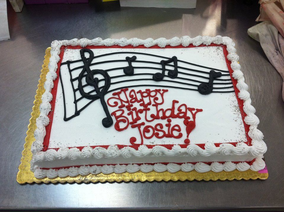 Music Sheet Cake By Stephanie Dillon Ls1 Hy Vee Music Birthday