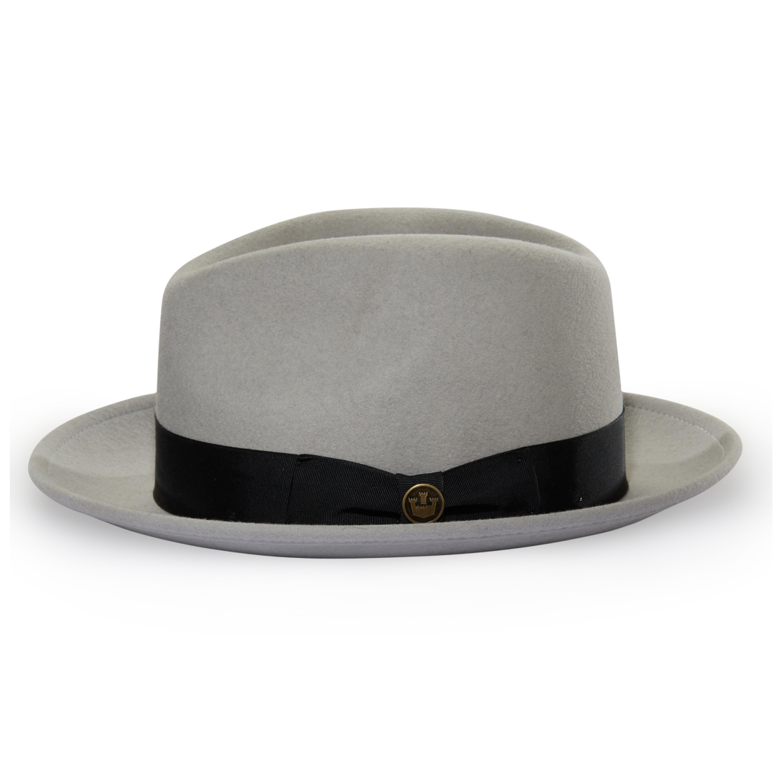 76e04bb9f922e Dean The Butcher Olive felt Wide Brim Fedora hat front view