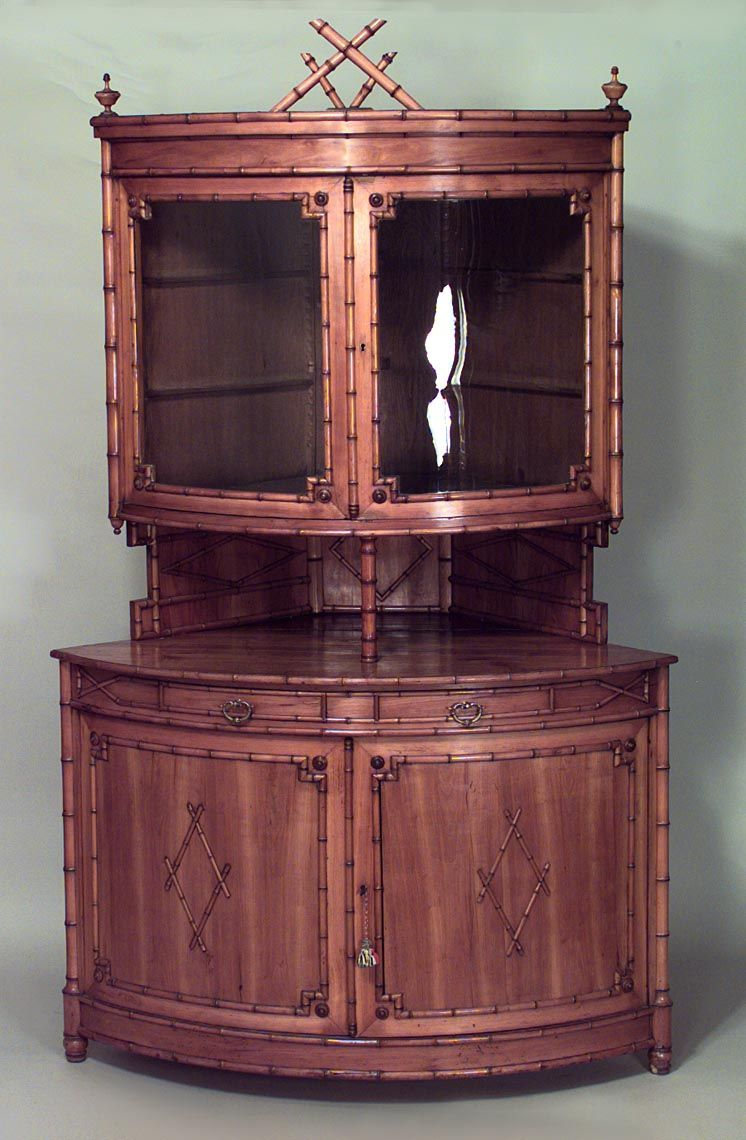 Delicieux Bamboo Faux Bamboo Cabinet/case Piece Corner Cabinet Maple