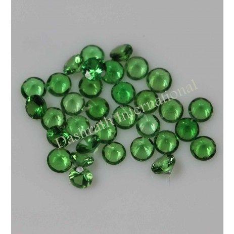 Natural Green Garnet Tsavorite Round Cut Calibrated Size Loose Gemstone AA Color