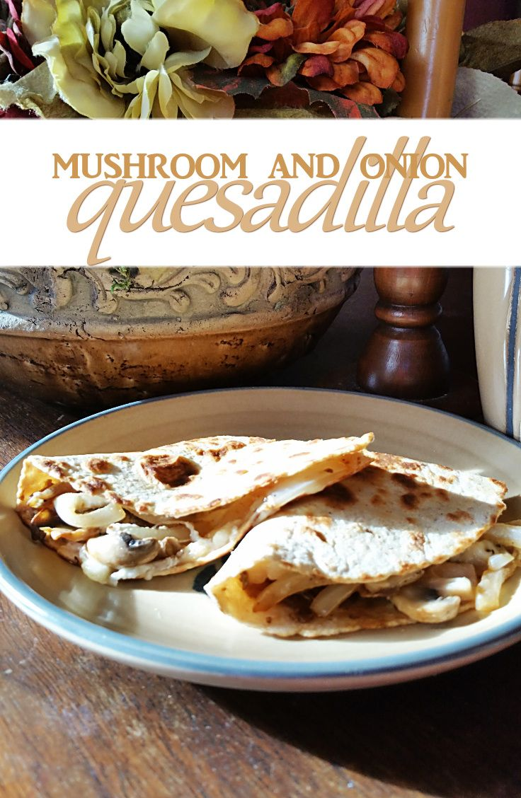 You don't need a million fancy ingredients and hours of prep time to make something delicious. With only 6 ingredients, this mushroom and onion quesadilla is one of my favorite quick-and-easy lunches.