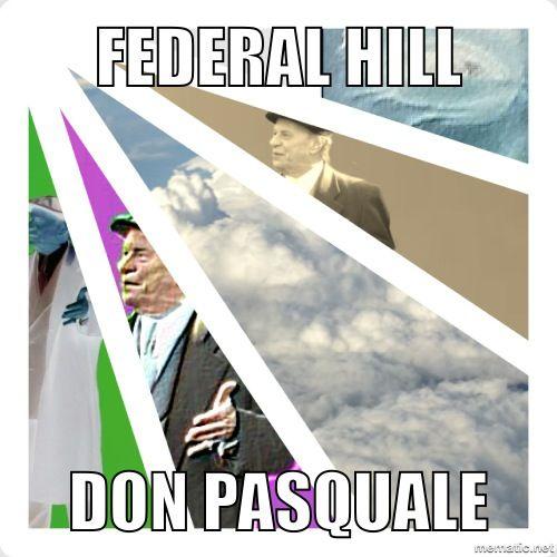 Don Pasquale Federal Hill Providence RI, Illuminati NWO All Seeing Minchia     #VisitRhodeIsland