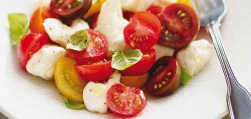 Salade de tomates cerises et de fromage en grain(Ricardo)