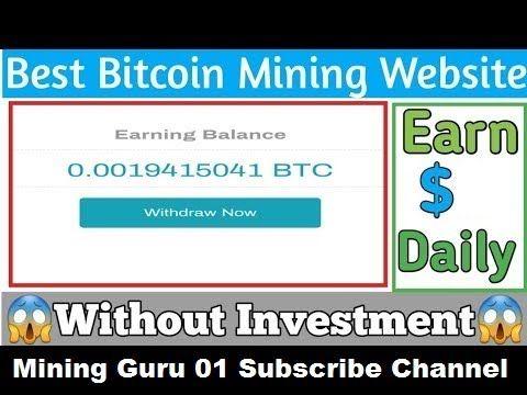 freemining !!! New Free Bitcoin Mining website 2020    Free Cloud Mining Website No Investment 2020