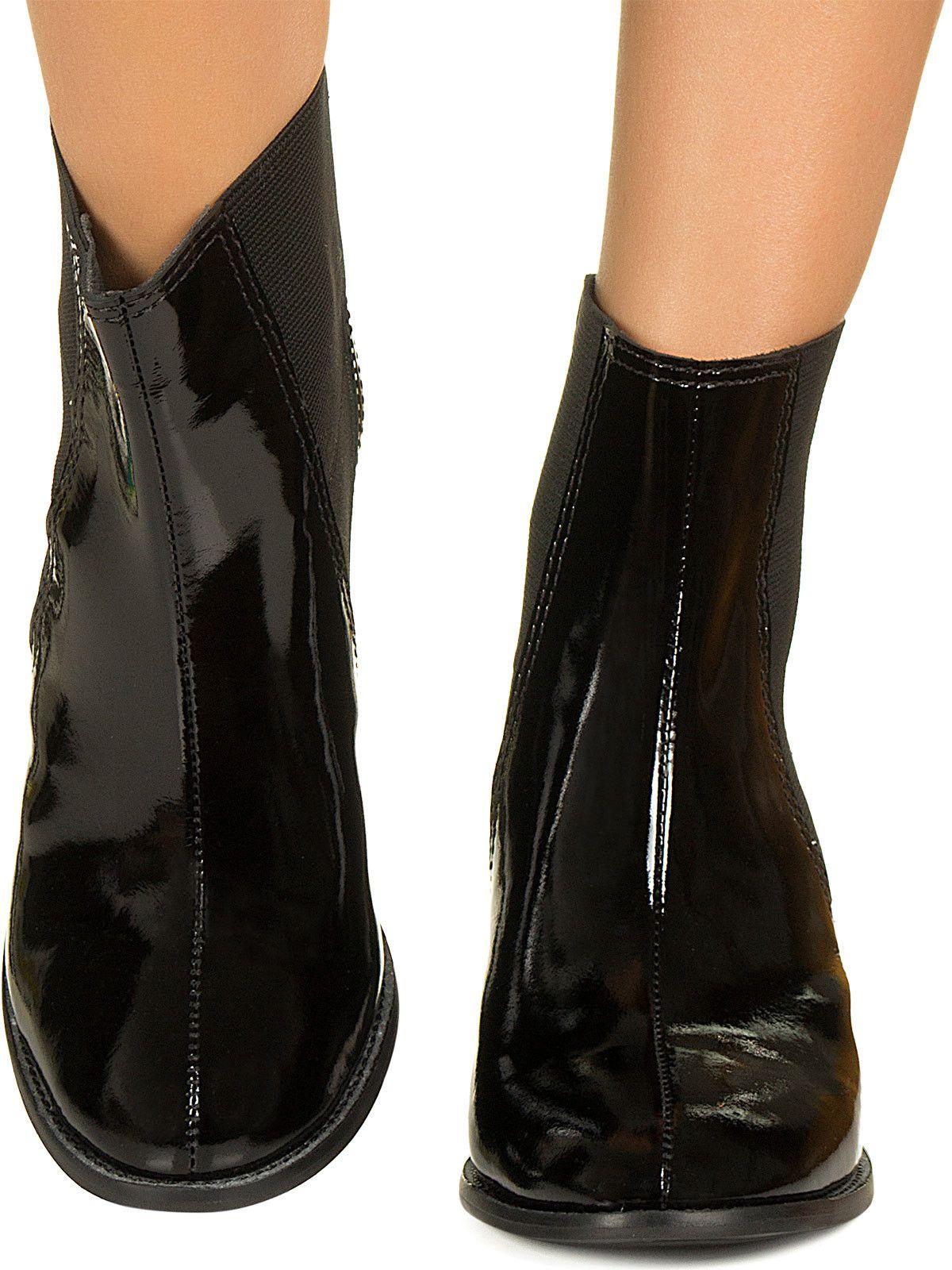 Chelsea boot preta verniz Taquilla - Taquilla - Loja online de sapatos femininos