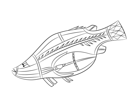 Aboriginal Rock Painting of Fish