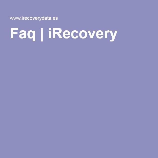 Faq   iRecovery