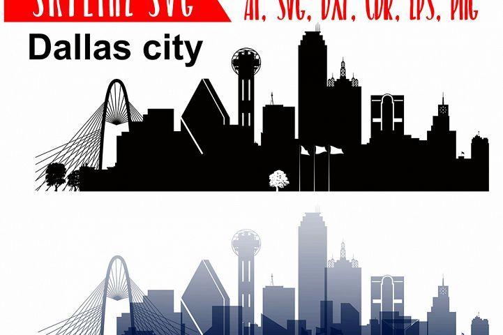 Dallas Vector Skyline Dallas Svg Silhouette Vector Skyline Usa City Svg Jpg Png Dwg Cdr Eps Ai 47059 Illustrations Design Bundles Silhouette Vector Dallas Skyline Skyline Drawing