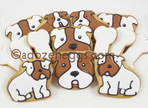 Bulldog Cookies Dog Cookies Dog Cakes Fancy Cookies