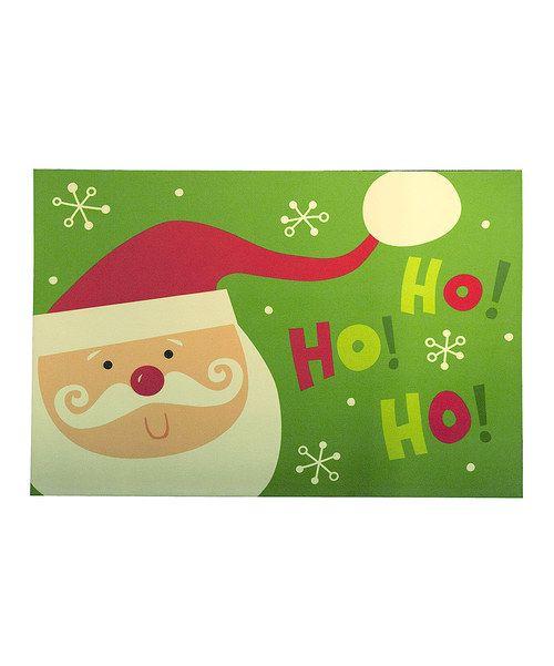 Take a look at this 'Ho! Ho! Ho!' Santa Comfort Cushion Mat on zulily today!